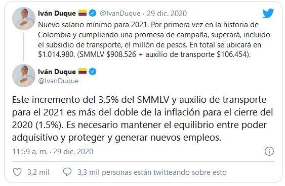 Salario-Minimo-Colombia-2021-Ivan-Duque-Twitter